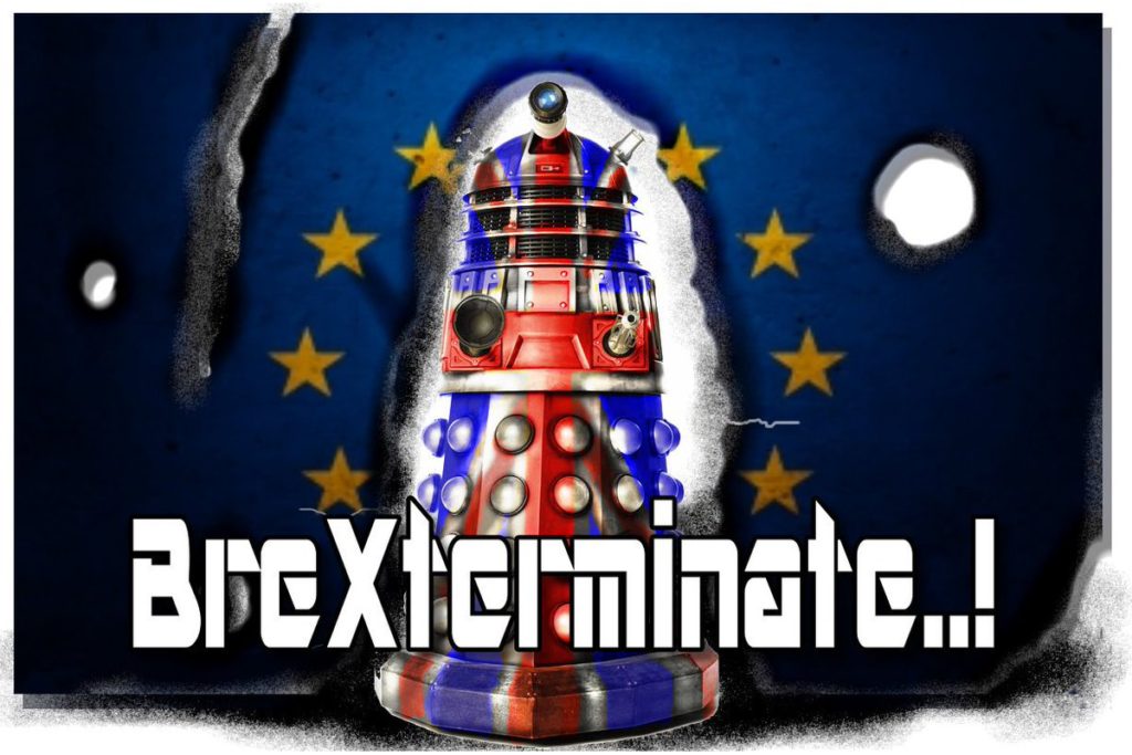 """A Dalek from Doctor Who - """"Brexterminate!"""""""